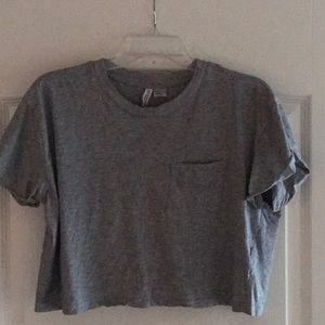 Divided Gray Tee crop